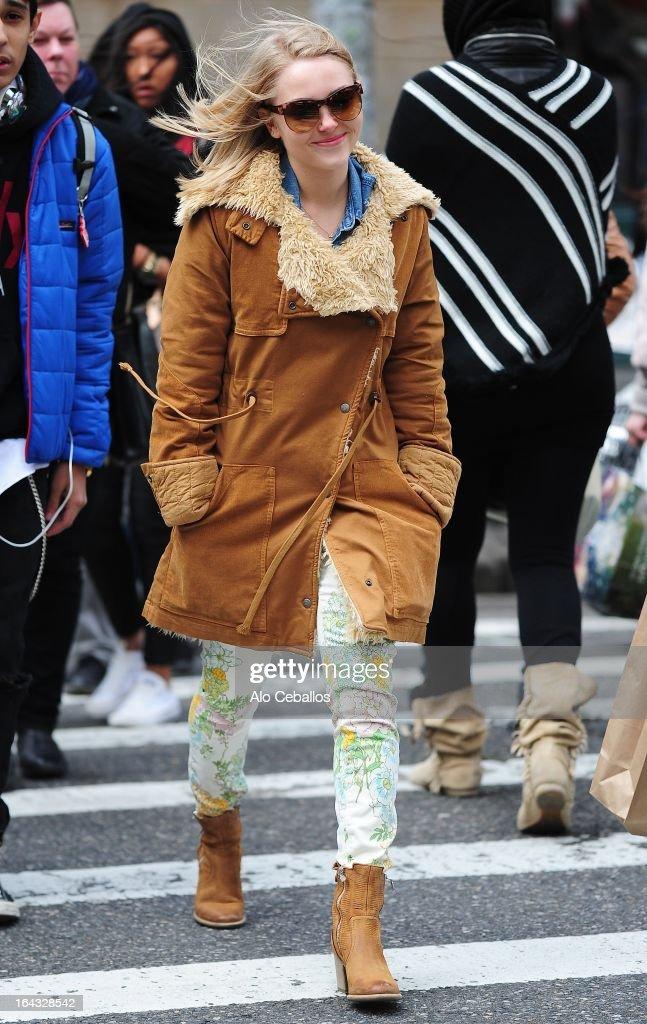 AnnaSophia Robb is seen in SoHo on March 22, 2013 in New York City.
