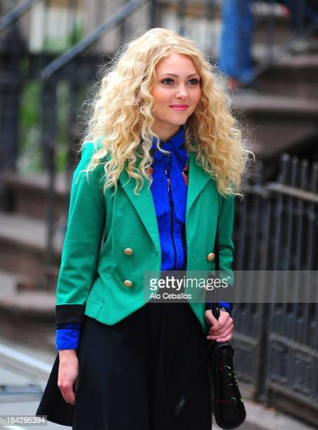 AnnaSophia Robb is seen on the set of 'The Carrie Diaries' on the streets of Manhattan on October 17 2012 in New York City