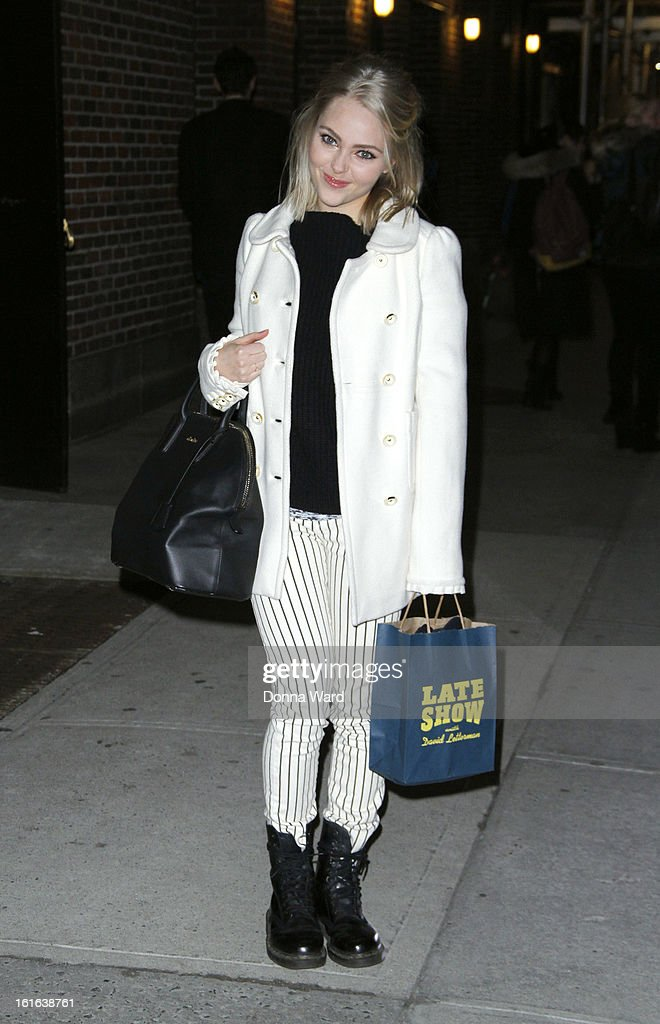 AnnaSophia Robb leaves 'The Late Show with David Letterman' at Ed Sullivan Theater on February 13, 2013 in New York City.