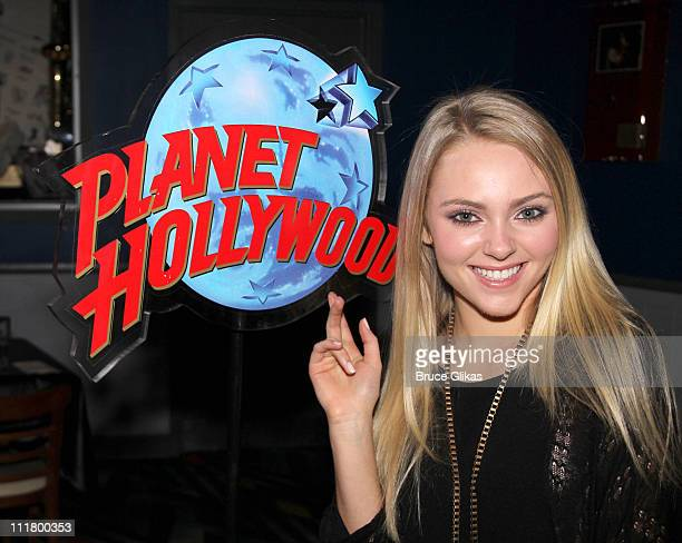 AnnaSophia Robb poses as she visits Planet Hollywood Times Square on April 6 2011 in New York City