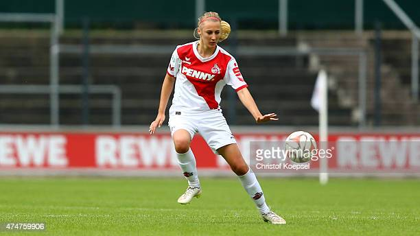 AnnaSophie Fliege of Koeln runs with the ball during the Women's 2nd Bundesliga match between 1 FC Koeln and Bayern Muenchen II at FranzKremer...