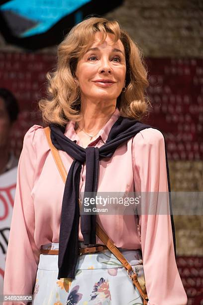 Anne Archer performs on stage during the photo call for 'The Trial of Jane Fonda' at the Park Theatre on July 13 2016 in London England