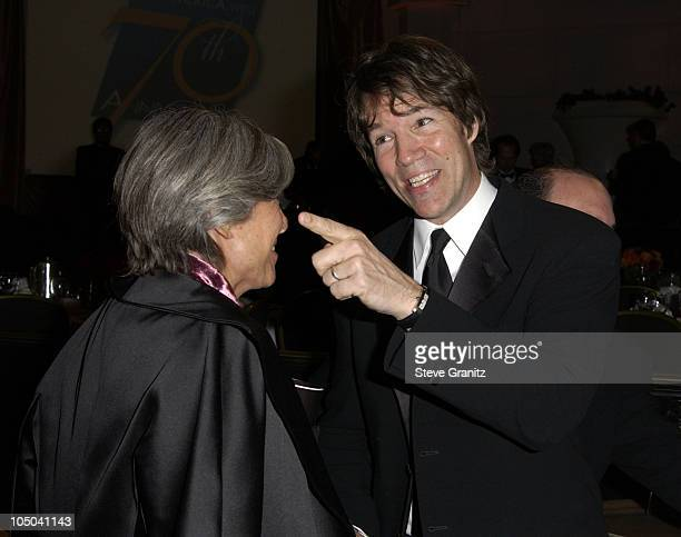 Anne Bancroft and David E Kelley during 55th Annual Writers Guild of America West Awards Arrivals at Beverly Hilton Hotel in Beverly Hills California...