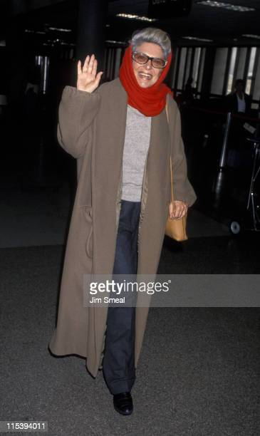 Anne Bancroft during Anne Bancroft Departs for New York City from LAX January 10 1993 at Los Angeles International Airport in Los Angeles California...