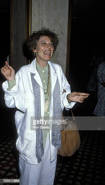 Anne Bancroft during Women in Film Awards May 30 1986 at Century Plaza Hotel in Los Angeles California United States