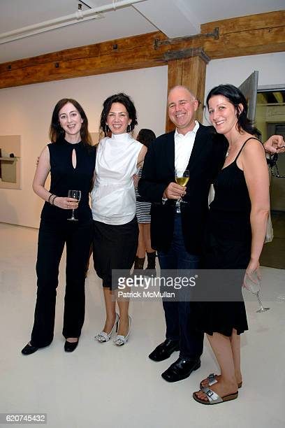 Anne Barlow Irina Protopopescu Simon Watson and Amy Mackie attend SLAG GALLERY Opening for MIRCEA SUCIU 'How Deep the Rabbit Hole Goes' at Slag...
