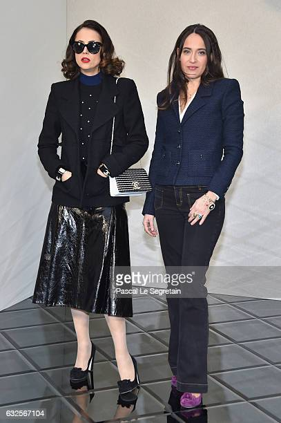 Anne Berest and Claire Berest attend the Chanel Haute Couture Spring Summer 2017 show as part of Paris Fashion Week on January 24 2017 in Paris France
