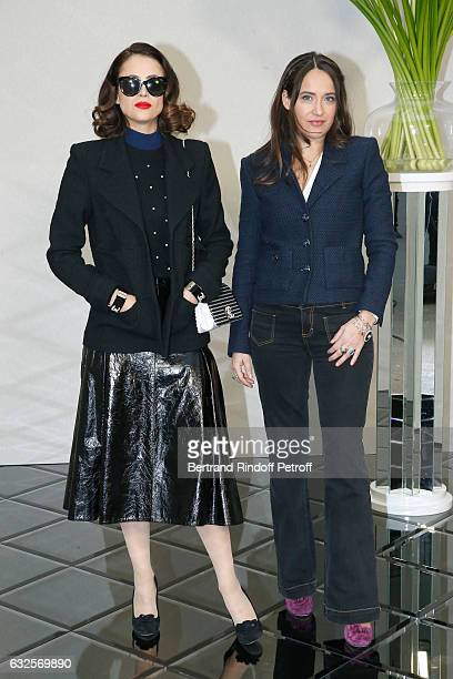 Anne Berest and her sister Claire Berest attend the Chanel Haute Couture Spring Summer 2017 show as part of Paris Fashion Week on January 24 2017 in...