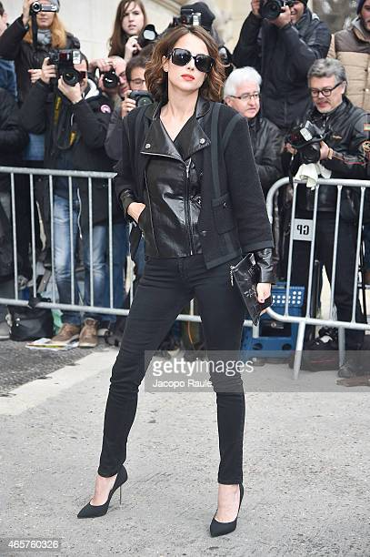 Anne Berest arrives at Chanel Fashion Show during Paris Fashion Week Fall Winter 2015/2016 on March 10 2015 in Paris France