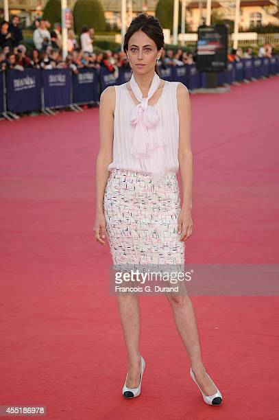 Anne Berest arrives at the 'Before I Go To Sleep' premiere during the 40th Deauville American Film Festival on September 10 2014 in Deauville France