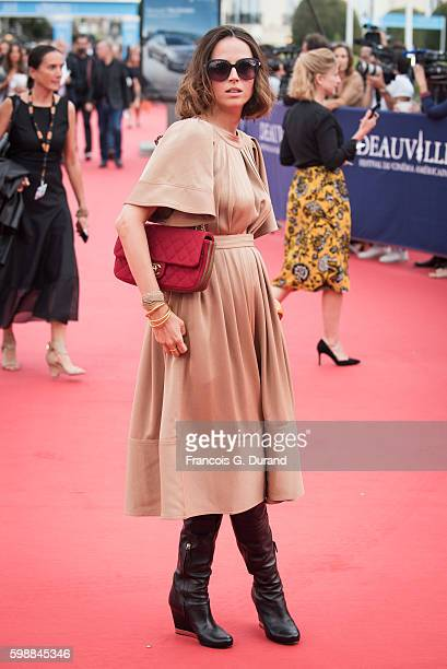 Anne Berest arrives at the opening ceremony of the 42nd Deauville American Film Festival on September 2 2016 in Deauville France