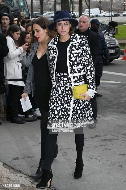 Anne Berest arrives to attend the 'Chanel' fashion show on January 27 2015 in Paris France