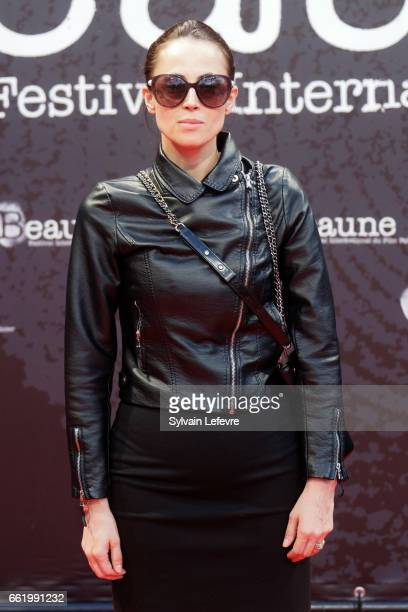 Anne Berest attends 9th Beaune International Thriller Film Festival on March 31 2017 in Beaune France
