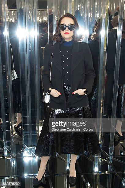 Anne Berest attends the Chanel Haute Couture Spring Summer 2017 show as part of Paris Fashion Week on January 24 2017 in Paris France