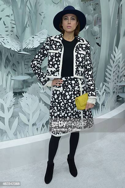 Anne Berest attends the Chanel show as part of Paris Fashion Week HauteCouture Spring/Summer 2015 on January 27 2015 in Paris France