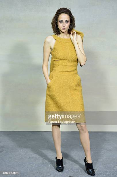 Anne Berest attends the Chanel show as part of the Paris Fashion Week Womenswear Spring/Summer 2015 on September 30 2014 in Paris France