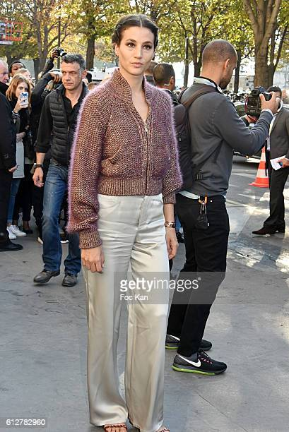 Anne Berest attends the Chanel show as part of the Paris Fashion Week Womenswear Spring/Summer 2017 on October 4 2016 in Paris France