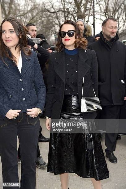 Anne Berest is seen arriving at the Chanel Fashion Show during Paris Fashion Week Haute Couture F/W 20172018 on January 24 2017 in Paris France