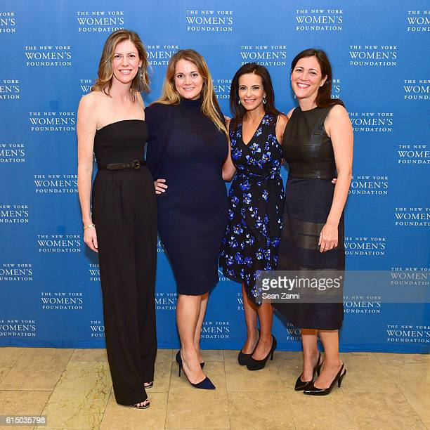 Anne Black Kara Gustafson Dina Habib Powell and Noa Meyer attend The New York Women's Foundation's 2016 Fall Gala at The Plaza on October 13 2016 in...