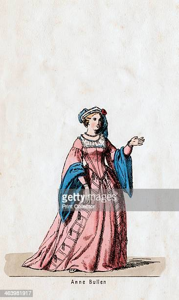 Anne Boleyn costume design for Shakespeare's play Henry VIII 19th century A 19thcentury design for Anne Boleyn's costume for William Shakespeare's...