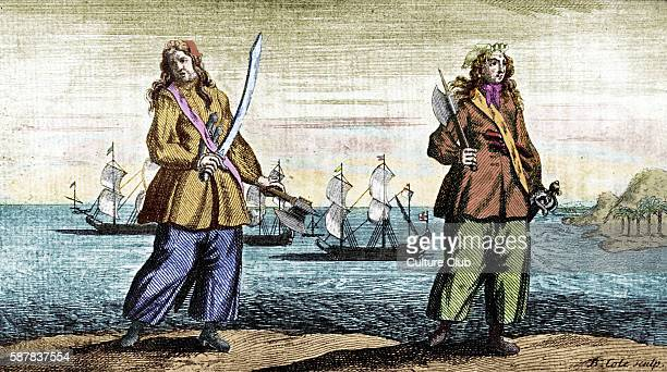 Anne Bonny and Mary Read the female pirates engraved by B Cole AB Irish American pirate active in the Caribbean born in the late 1690s and is said to...