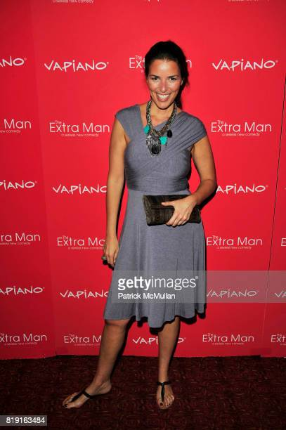 Anne Caruso attends Vapiano hosts the New York Premiere of THE EXTRA MAN red carpet arrivals and afterparty at Village East Cinema and Vapiano NYC on...