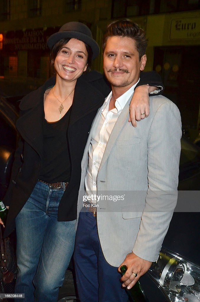 Anne Charrier and Matthias Van Khache attend the 'Speakeasy' Party At The Lefty Bar Restaurant on May 6, 2013 in Paris, France.