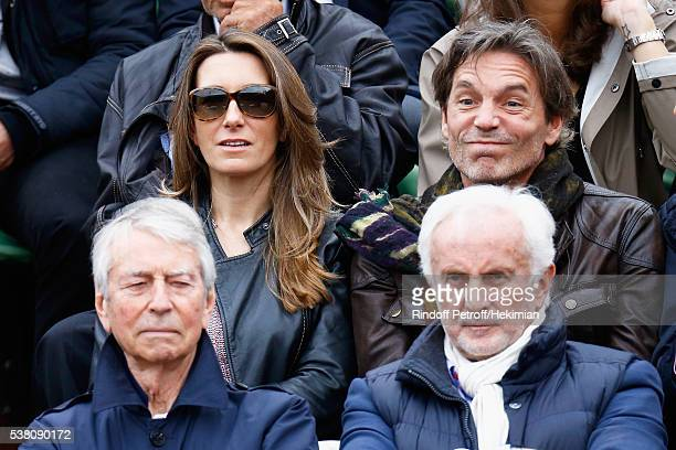Anne Claire Coudray and her companion Nicolas attend the French Tennis Open Day Fourteen at Roland Garros on June 4 2016 in Paris France