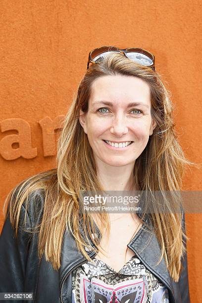 Anne Claire Coudray attends day four of the French Tennis Open at Roland Garros on May 25 2016 in Paris France
