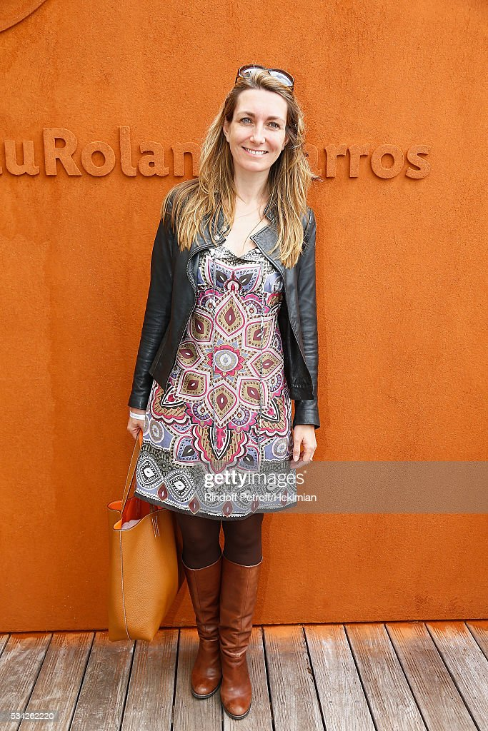 Anne Claire Coudray attends day four of the French Tennis Open at Roland Garros on May 25, 2016 in Paris, France.