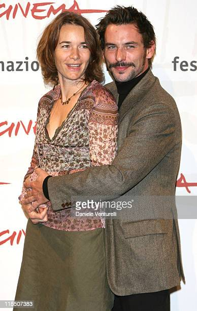 Anne Coesens and Sagamore Stevenin during 1st Annual Rome Film Festival 'Cage' Photocall at Auditorium in Rome Italy