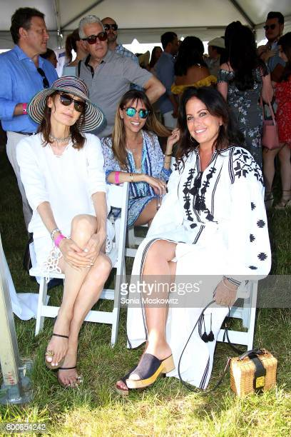 Anne Cohen Rachel Heller and Jill Stuart attend the First Annual Polo Hamptons Match at Southampton Polo Club on June 24 2017 in New York City