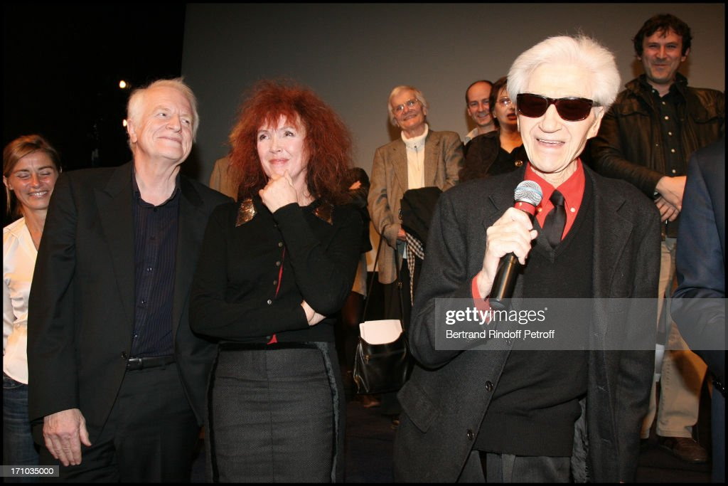 Anne Consigny, Andre Dussollier, Sabine Azema, <a gi-track='captionPersonalityLinkClicked' href=/galleries/search?phrase=Alain+Resnais&family=editorial&specificpeople=1090412 ng-click='$event.stopPropagation()'>Alain Resnais</a> at The Paris Premiere Of The Movie Les Herbes Folles At La Cinematheque De Paris .