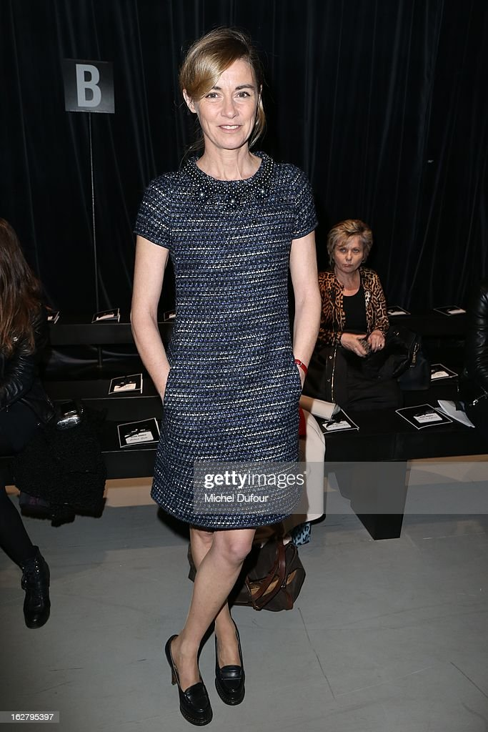 Anne Consigny attends the Alexis Mabille Fall/Winter 2013 Ready-to-Wear show as part of Paris Fashion Week on February 27, 2013 in Paris, France.