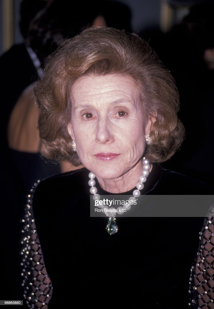 Anne Cox Chambers attends Top Dog Humanitarian Awards Gala on November 15, 1989 at the Pierre Hotel in New York City.