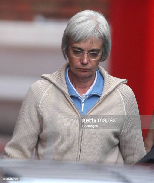 Anne Darwin the wife of backfromthedead canoeist John Darwin arriving at Manchester Airport where she was arrested by Cleveland Police