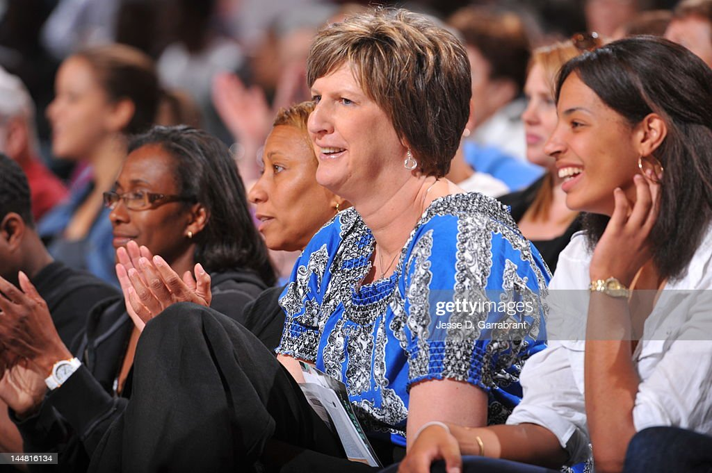 Anne Donovan attends the game of the New York Liberty against the Connecticut Sun on May 19 2012 at Madison Square Garden in New York New York NOTE...