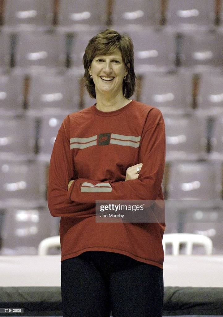 Anne Donovan head coach of Team USA is shown during practice at the 2006 FIBA World Championship For Women on September 19 2006 in Ibirapuera Sao...
