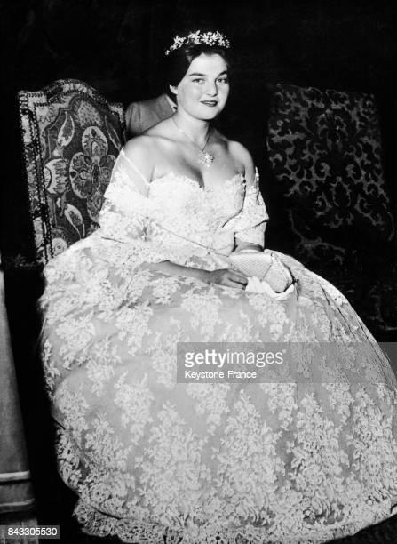 Anne d'Orléans au tricentenaire du mariage de Louis XIV et de l'infante d'Espagne à Biarritz France le 13 septembre 1960