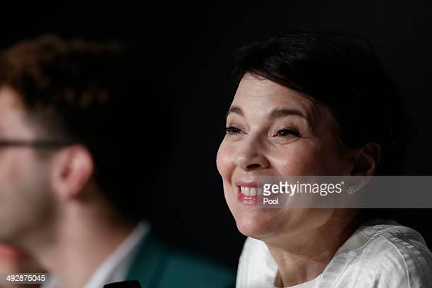 Anne Dorval attends the 'Mommy' press conference at the 67th Annual Cannes Film Festival on May 22 2014 in Cannes France
