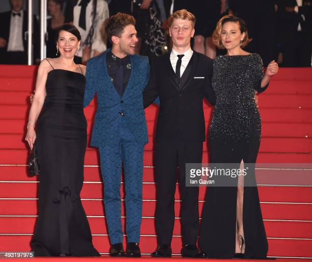 Anne Dorval director Xavier Dolan actor Olivier Pilon and Suzanne Clement attend the 'Mommy' premiere during the 67th Annual Cannes Film Festival on...