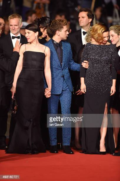 Anne Dorval director Xavier Dolan and Suzanne Clementattend the 'Mommy' premiere during the 67th Annual Cannes Film Festival on May 22 2014 in Cannes...