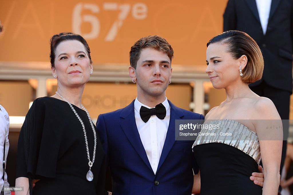 Anne Dorval, Xavier Dolan and Suzanne Clement at the Closing ceremony and 'A Fistful of Dollars' screening during 67th Cannes Film Festival
