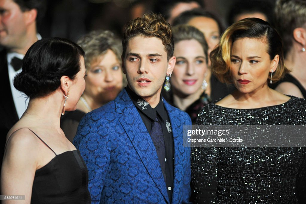 Anne Dorval, Xavier Dolan and Suzanne Clement attend the 'Mommy' premiere during the 67th Cannes Film Festival