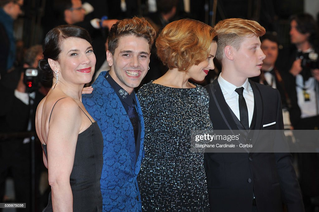Anne Dorval, Xavier Dolan, Olivier Pilon and Suzanne Clement attend the 'Mommy' premiere during the 67th Cannes Film Festival