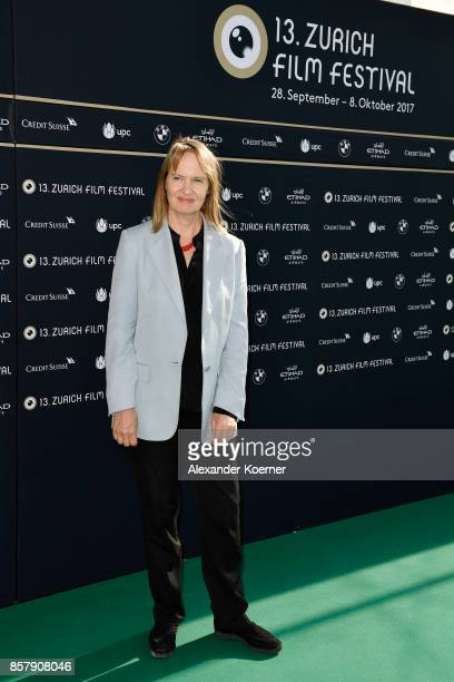 Anne Dudley poses at the International Film Music Competition photocall during the 13th Zurich Film Festival on October 5 2017 in Zurich Switzerland...