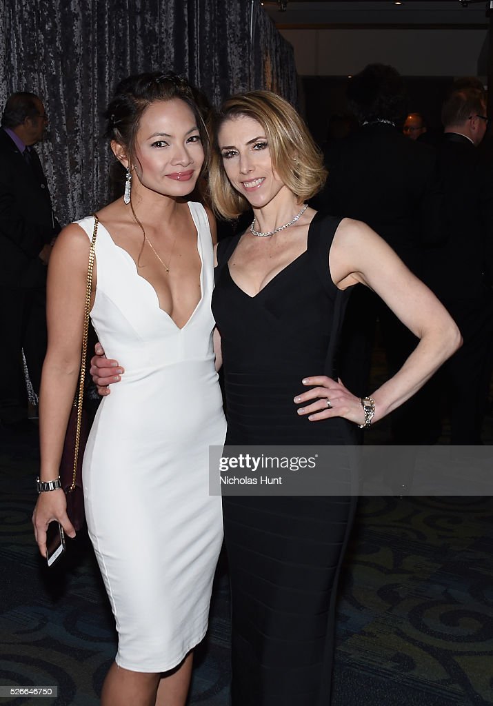 Anne Espiritu (L) and Megan Liberman attend the Yahoo News/ABC News White House Correspondents' Dinner Pre-Party at Washington Hilton on April 30, 2016 in Washington, DC.