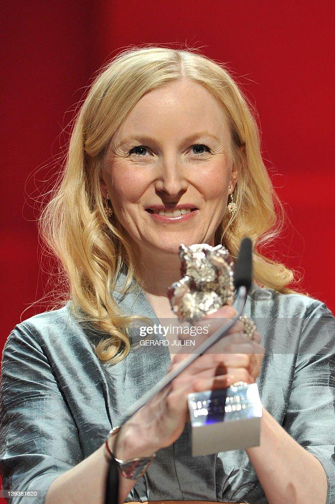 <b>Anne Fleck</b>, partner of cinematographer Lutz Reitemeier, holds the Silver ... - anne-fleck-partner-of-cinematographer-lutz-reitemeier-holds-the-bear-picture-id139381620