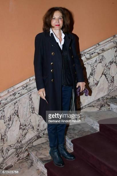 Anne Fontaine attends the 'Jour J' Paris movie Premiere on April 24 2017 in Paris France