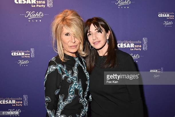 Anne Forence Shmitt and Albane Cleret attend the photocall at the Queen Club after The Cesar Film Awards 2016 on February 26 2016 in Paris France